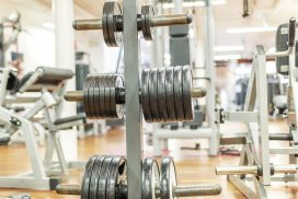 dumbbells, weight plates, gym